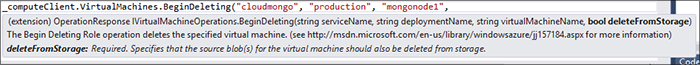 Rich IntelliSense documentation exists for all the service functions and libraries, although it is still handy to keep the Azure REST documentation handy while using the libraries.