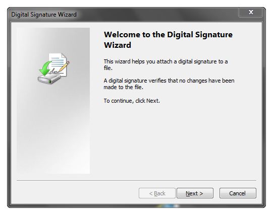 Digital Signature Wizard