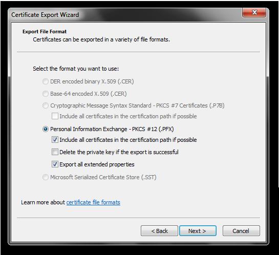 ExportTypeAndOptions