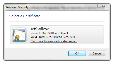 SelectACertificate