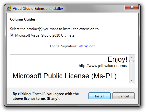 Column guides for Visual Studio 2010: An extension - Jeff Wilcox