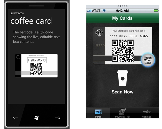 Displaying 2D QR barcodes in Windows Phone applications