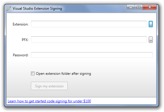 Visual Studio Extension Signing