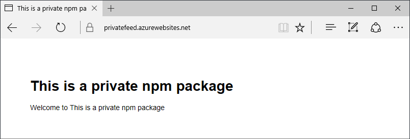 Deploying Node.js apps in Azure App Service using private npm feeds from  Visual Studio Team Services - Jeff Wilcox