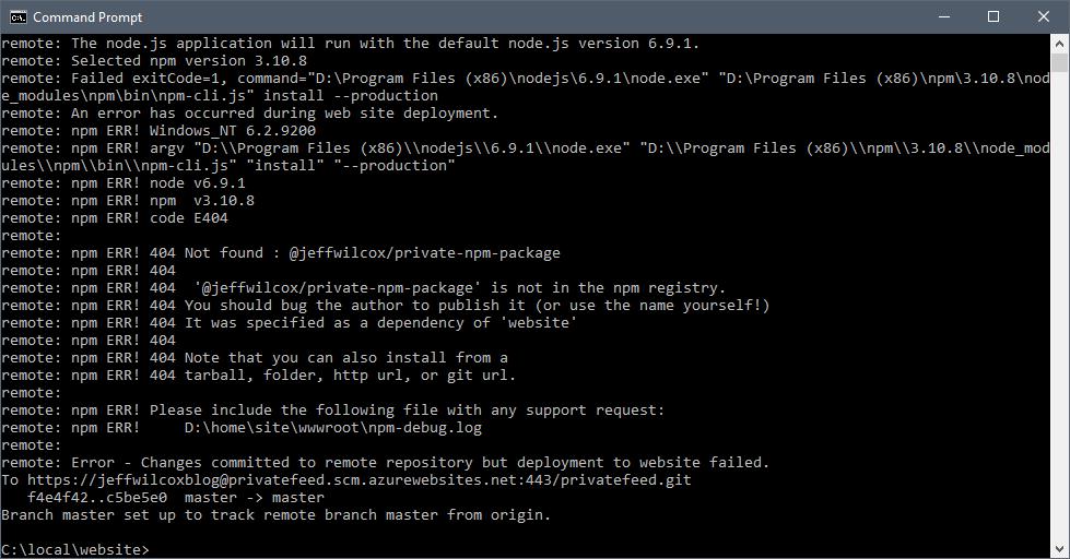 install npm module windows